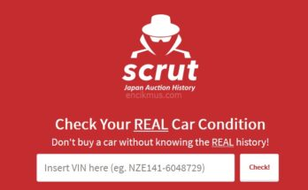 SCRUT Logo - Japan Auction History